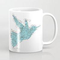 Bird Fly 1 - Aqua/Brown Mug