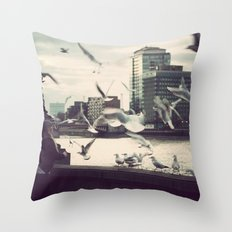 Pigeon Whisper    Throw Pillow