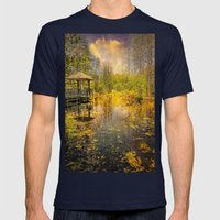 The Pond Mens Fitted Tee Navy SMALL