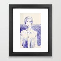 Short Lines Framed Art Print