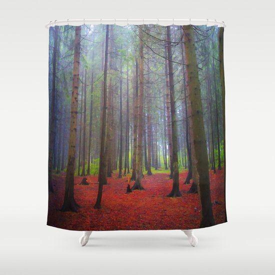 Back to the forest Shower Curtain