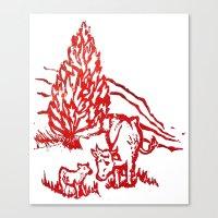 Big Moo, Wee Moo Canvas Print