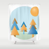 tree stitches Shower Curtain