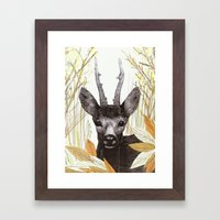 among the leaves (morning) Framed Art Print