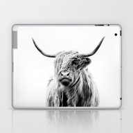 Portrait Of A Highland C… Laptop & iPad Skin