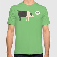 Oink Mens Fitted Tee Grass SMALL