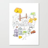 Friends + Neighbors : San Francisco Canvas Print