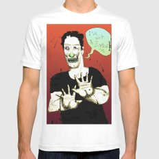 Not a Zombie SMALL White Mens Fitted Tee