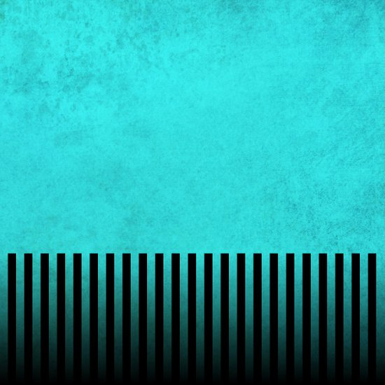 Stormy Teal with Vertical Stripes Art Print