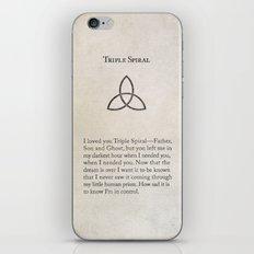 Triple Spiral iPhone & iPod Skin