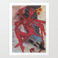 Scorpio: The Feared Revenger (Oct 23 - Nov 21) / Original Gouache On Paper Painting / Illustration Art Print