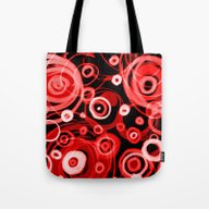 Just Red In The Round Tote Bag