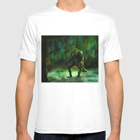 THE SWAMP Mens Fitted Tee White SMALL
