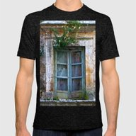 Abandoned Sicilian House… Mens Fitted Tee Tri-Black SMALL