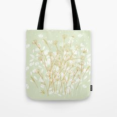 Coockie brown clover on green  Tote Bag