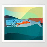 In The Water Under The S… Art Print