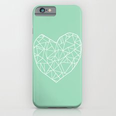 Abstract Heart Mint Slim Case iPhone 6s