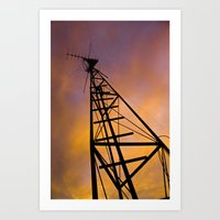 The Old Radio Tower At S… Art Print