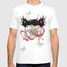Doll Sunkissed Bipolar Love  Mens Fitted Tee White SMALL