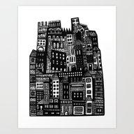 Art Print featuring Neighborhood by Marcelo Romero