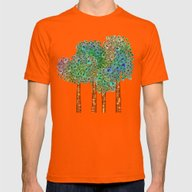 Tree Grove Mens Fitted Tee Orange SMALL