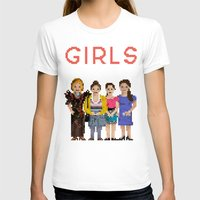 girls T-shirts featuring Girls by Sy Graham