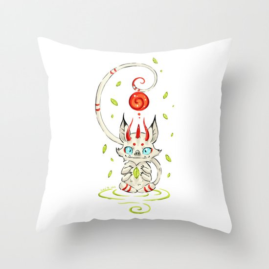 Little Monster 2 Throw Pillow