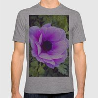 Pink Poppy Anemone I Mens Fitted Tee Athletic Grey SMALL