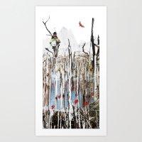 child in the tree Art Print