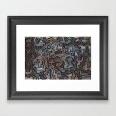 waveblock Framed Art Print