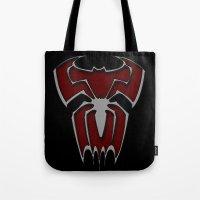 Bat-Spiderman Tote Bag
