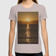 Sunrise In Florida Rivie… Womens Fitted Tee Cinder SMALL