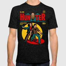 Hunter Comic Mens Fitted Tee Tri-Black SMALL