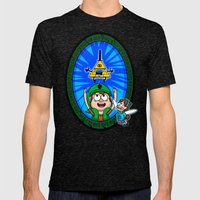 Gravity Falls: Hyrule Falls Mens Fitted Tee Tri-Black SMALL