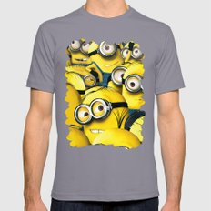 DESPICABLE MINION Mens Fitted Tee Slate SMALL