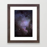 North American Nebulae. The Milky way. North America Nebula Framed Art Print