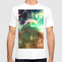 Meanwhile, Somewhere in The Universe... Mens Fitted Tee White SMALL