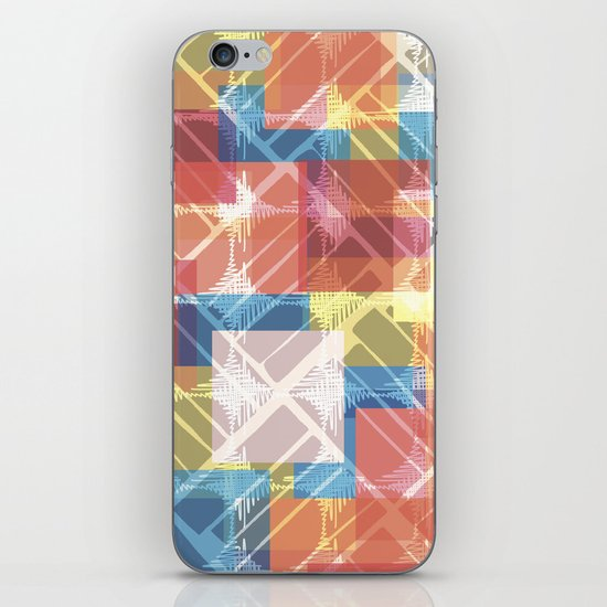 squares n holes... iPhone & iPod Skin