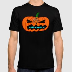 Anarcho Pumpkin Mens Fitted Tee Black SMALL