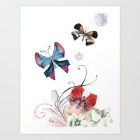 Butterfly Spring Art Print