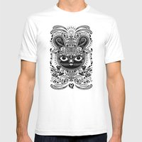 Day Of The Dead Bunny Ce… Mens Fitted Tee White SMALL
