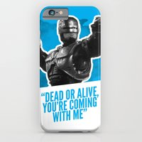 iPhone & iPod Case featuring Badass 80's Action Movie Quotes - Robocop by Casa del Kables