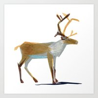 Clive Caribou Art Print