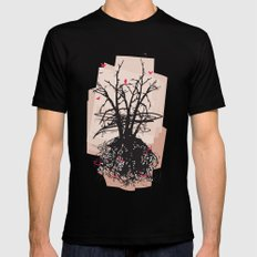 Birds and the Sky Mens Fitted Tee Black SMALL