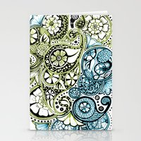 Blue Lime Paisley Stationery Cards