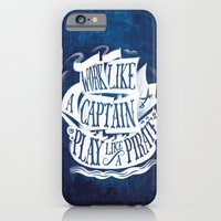 iPhone Cases featuring like a pirate by marella