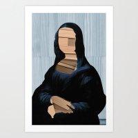 Mona Lisa - Blue Shining… Art Print
