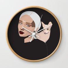 Grey Goddess Wall Clock
