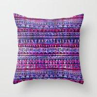 Hau'oli Stripe Purple Throw Pillow