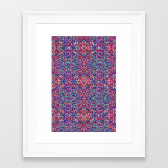 Digital Camo Framed Art Print